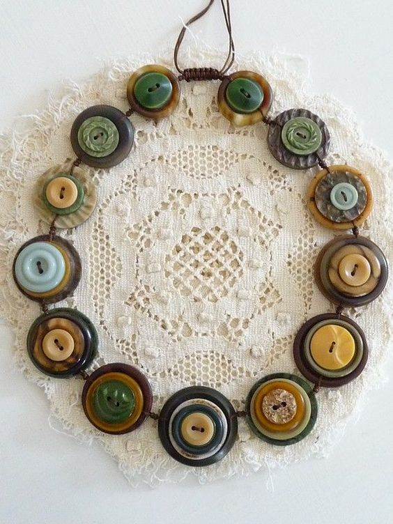 This reminds me that I need to do something with my grandma's old buttons. So many fun ideas!