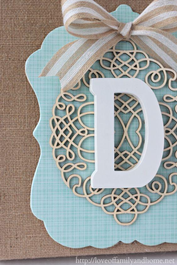 How To Make a Layered Burlap Monogram {DIY Wall Decor}: