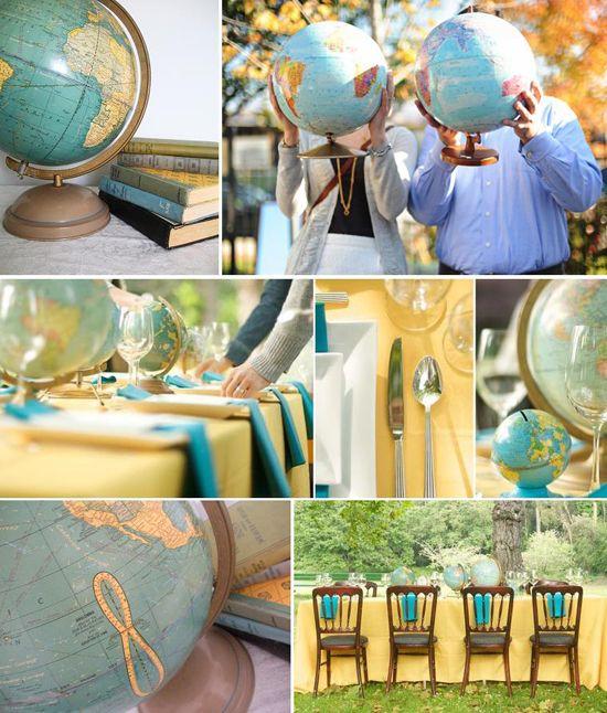 Cute Wedding Party Ideas: Globes, Bon Voyage And Cute Ideas On Pinterest