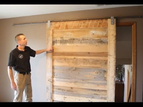 Installation Of Low Profile V Track Lowest Clearance Barn Door