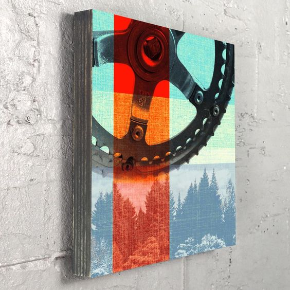 Crank Trees - Bike Part and Nature Photography Art on Wood