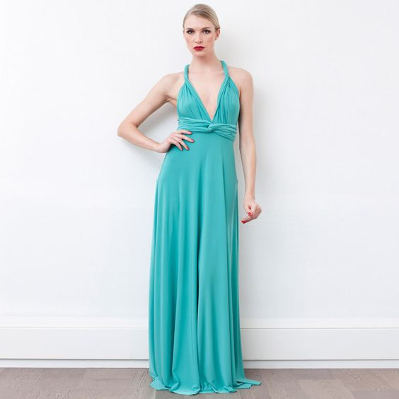 Transformer Dress Long Jade