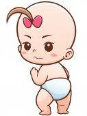 Dibujo animado del bebé mono — Vector de stock