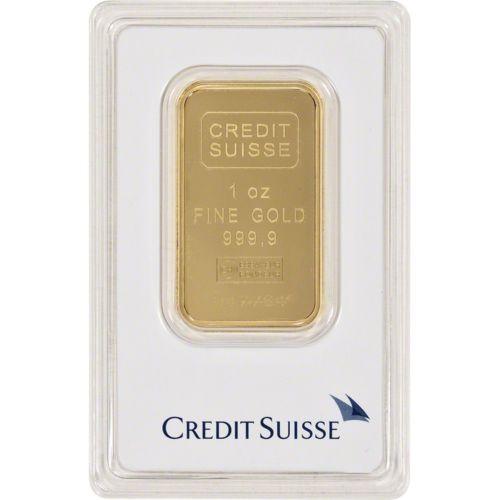 1 Oz Gold Bar Credit Suisse 99 99 Fine In Assay Credit Suisse Gold Bullion Bars Gold Bullion