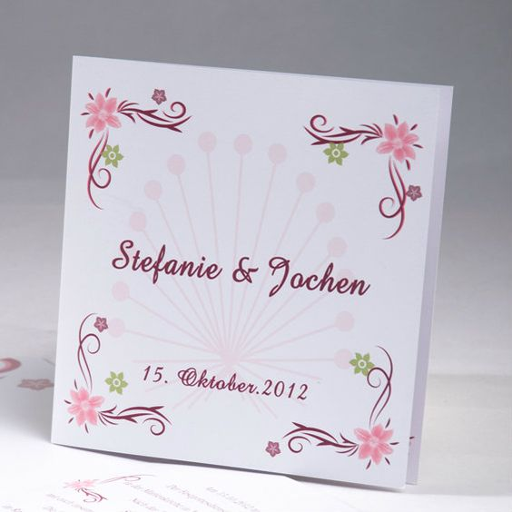 sch ne einladungskarte zur hochzeit wedding invitation papetrie de mariage pinterest. Black Bedroom Furniture Sets. Home Design Ideas