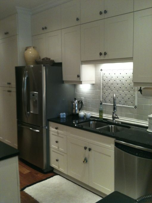 Stove backsplash stove and condo kitchen on pinterest for Condo kitchen designs ideas