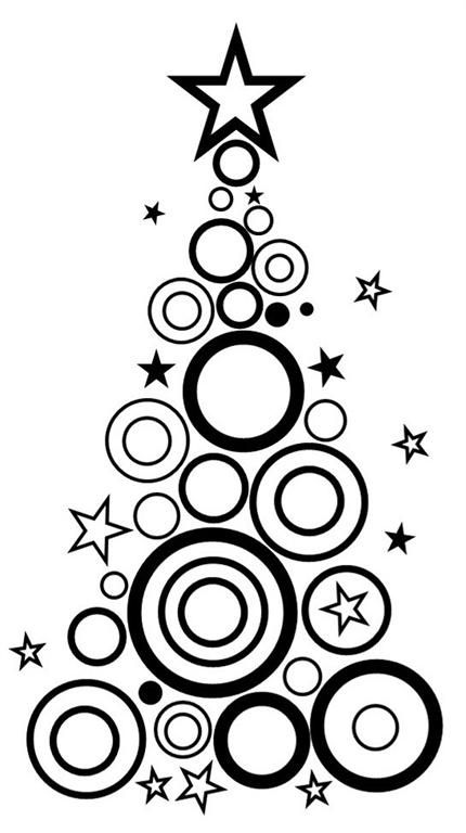 Christmas Tree Swirls And Doodles | It'S The Most Wonderful Time