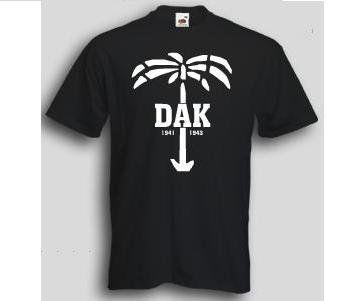 T-Shirt DAK  T-Shirt deutsches Afrika Korps mit Palme. Das Afrikakorps T-Shirt ist in den Größen S-3XL erhältlich. Auf dem T-Shirt ist die berühmte Palme des deutschen Afrika Korps abgebildet. / mehr Infos auf: www.Guntia-Militaria-Shop.de