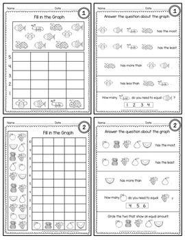 Count and Graph Kindergarten | Math Activities | Pinterest