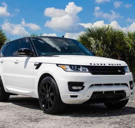 Land Rover Sport Used: White Range Rover With Black Rims