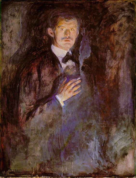 Edvard Munch Self-portrait 1891