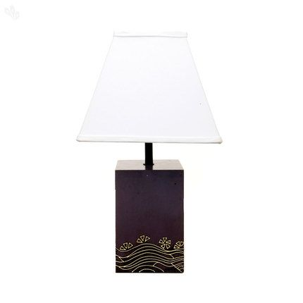 Light up your indoors in the crispness of white with this pedestal base table lamp. A stroke of beige on the lamp base is subtly evocative of calm waters, and when combined with the elegance of purple, brings home the right equation for a relaxed evening indoors.