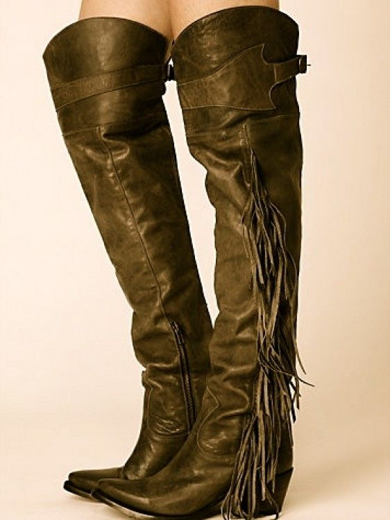 obsessed with these over the knee cowboy boots! | SHOES ...