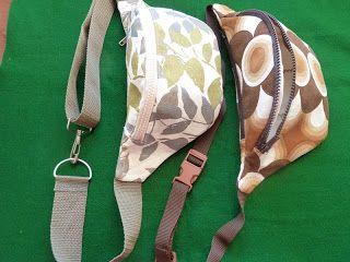 Hip bags - tutorial . Blog post is in Polish (Fanny Pack / Bumbbag / Bum Bag…