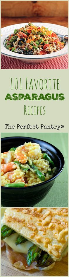 101 great ideas for how to cook and serve asparagus! [from ThePerfectPantry.com; thanks for including some of my recipes!]: