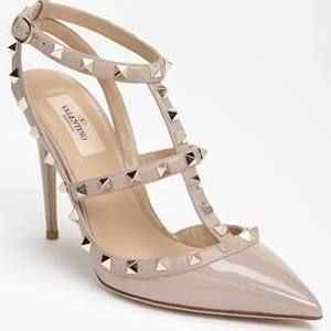 beige valentino rock stud shoes sale - Google Search