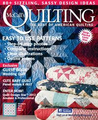 May/June 2012 issue of McCall's Quilting magazine. Click to preview every pattern, plus find free web bonuses!