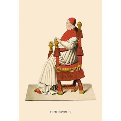 Buyenlarge Pope Sixtus IV by H. Shaw Painting Print