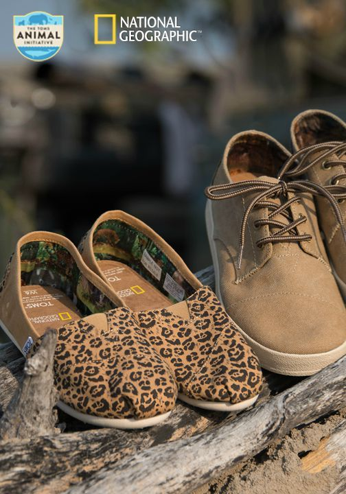 Together, National Geographic and TOMS present the Big Cats Collection, a special edition line of footwear, sunglasses, and a backpack inspired by National Geographic's Big Cats Initiative.