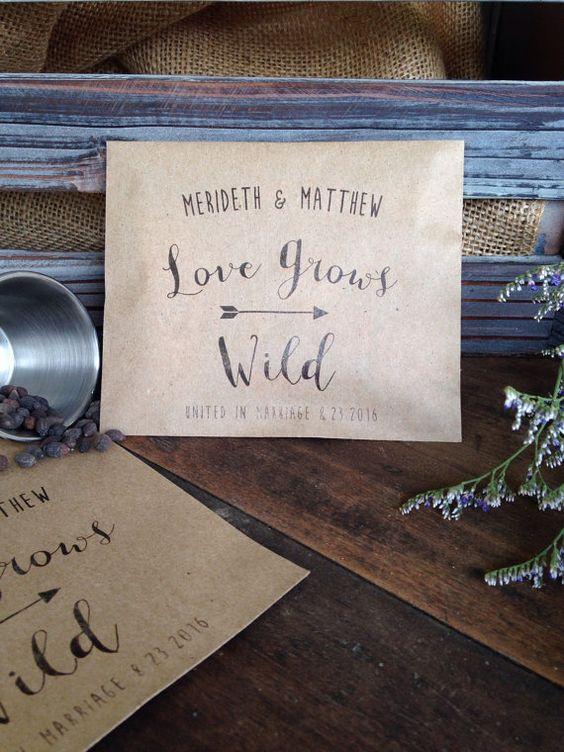 Faveurs de mariage de paquet de graine  par DetailsonDemand sur Etsy
