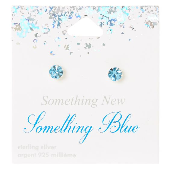 <P>This cute little pair of sterling silver stud earrings come on special sparkly white carding reading 'Something New, Something Blue'. The perfect little gift for a bride!</P><UL><LI>Sterling Silver <LI>Baby blue crystal <LI>Stud backs</LI></UL>