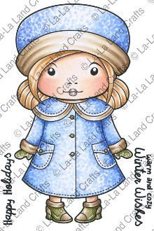 "La La Land Crafts ""Winter Coat Marci"" Rubber Stamp *NEW*"