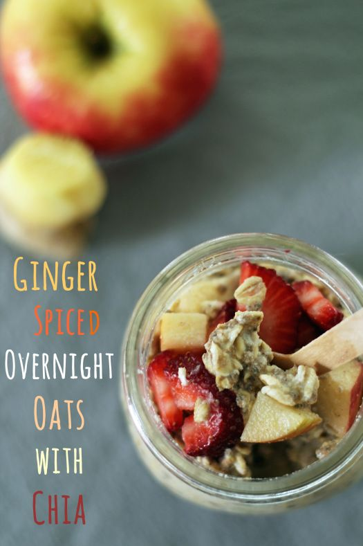 #GlutenFree Ginger Spiced Overnight Oats with Chia