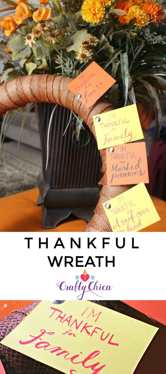 Everyone needs a Family Thankful Wreath!