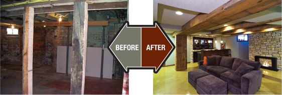 Lighting Basement Washroom Stairs: Old Homes Before And After