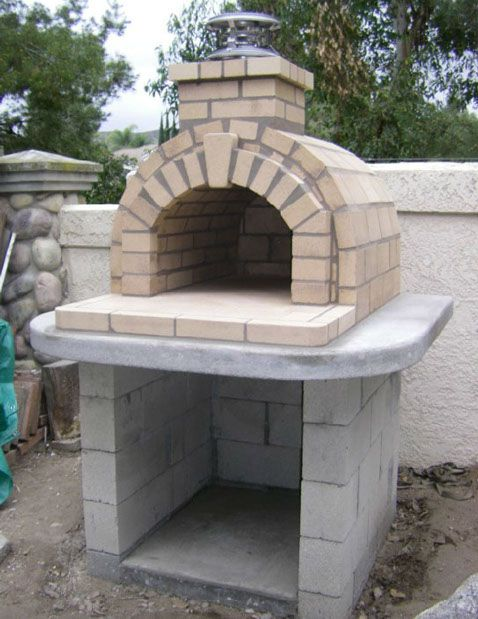 The schlentz family wood fired diy brick pizza oven in for Outdoor oven diy