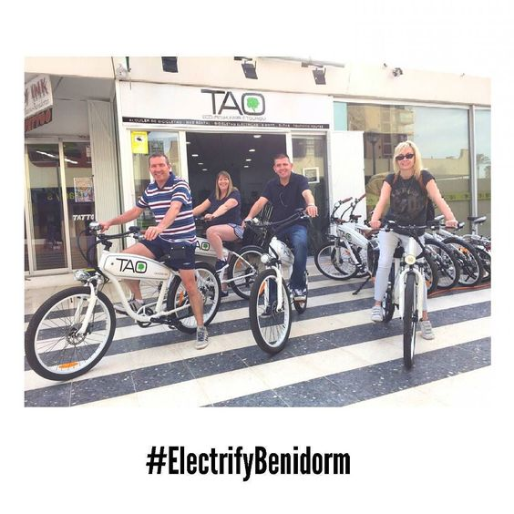 Our friends from #Leicester are going to visit #Altea and #Benidorm today...Enjoy guys! #customers #TaoBike #ElectricBikes #ElectrifyBenidorm
