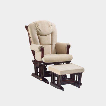 Amazon.com: Shermag Glider Rocker w/ Ottoman. Espresso w? Pearl Beige: Baby. $297