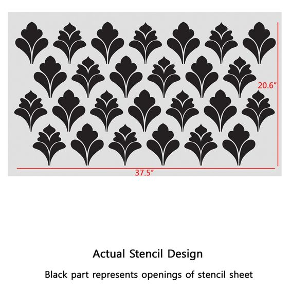 Allover Wall Stencil Pattern Jerome for walls instead of wallpaper - J BOUTIQUE STENCILS