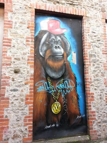 Orangutan wall art, Cardiff - Matthew Price - Google+