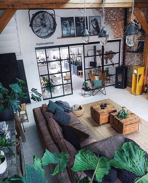 salon et végétation