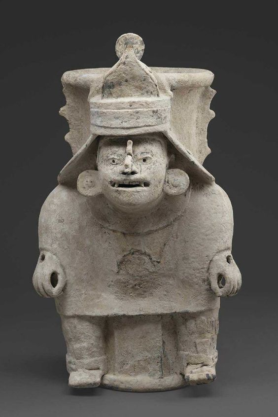 Human effigy cache vessel (incense burner) Maya , A.D. 1250–1500.