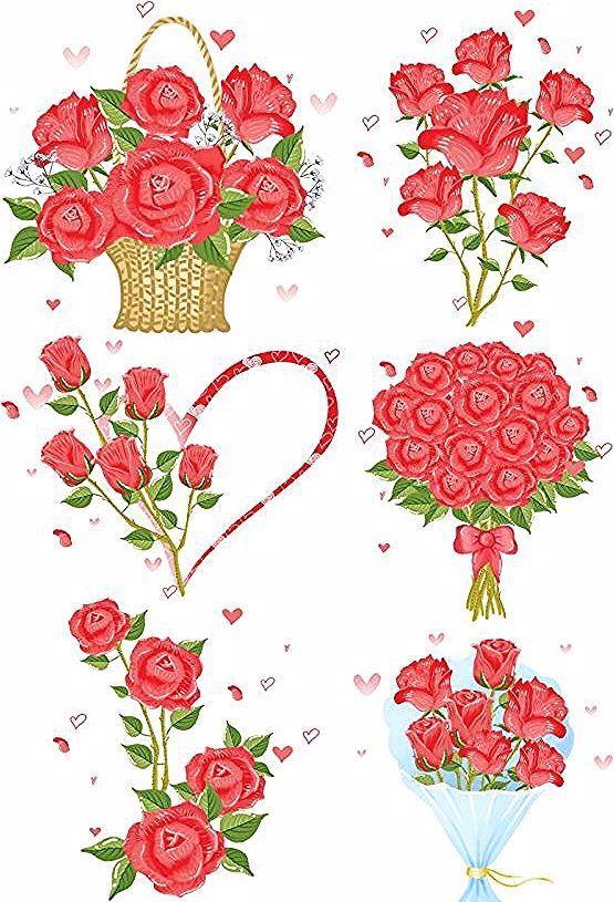 سلة زهرة مرسومة باليد باقة أزهار عيد الحب زهرة مرسومة باليد روز مصنع زهرة الزهور جديد ردة حمراء Planting Roses Flower Painting Red Roses