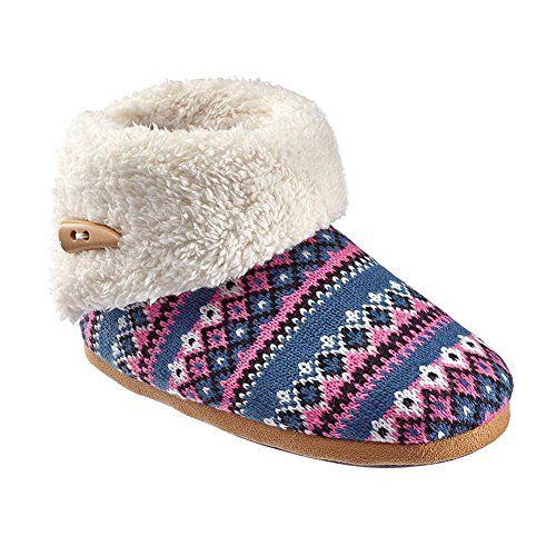 Best Womens Slippers | Olivia Miller Womens Fair Isle Sweater ...