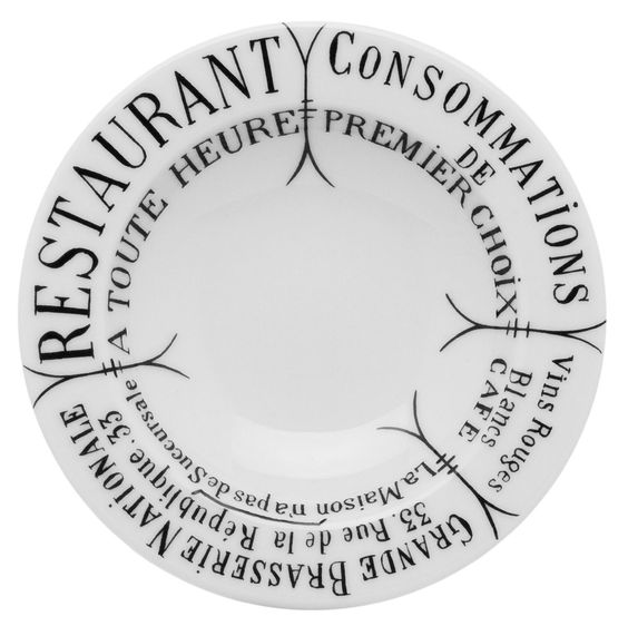 Brasserie Butter/Jam Round Platter (Set of 4)