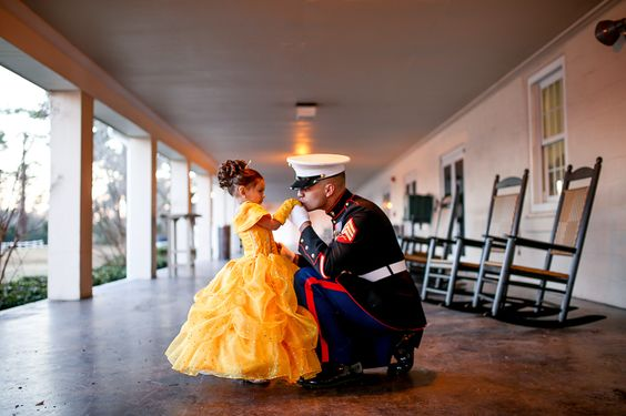 Love + Wander » Inspirational Photography and Stories » Daddy Daughter Marine Corps Ball