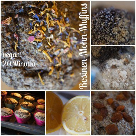 Rosinen Mohn Muffins 20 Stück vegan by AURELIA