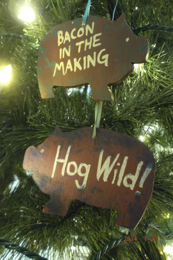 Bacon, The o\u0027jays and Wooden christmas ornaments on Pinterest