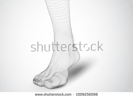 Illustration Of A Vector Of Human Feet Walking Along The Background