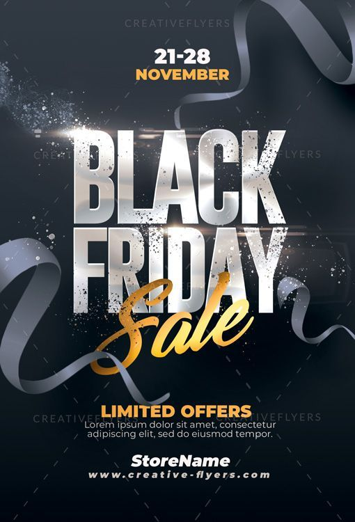 Friday Party Flyer Posters In 2020 Flyer Black Friday Poster Black Friday Sale Flyer