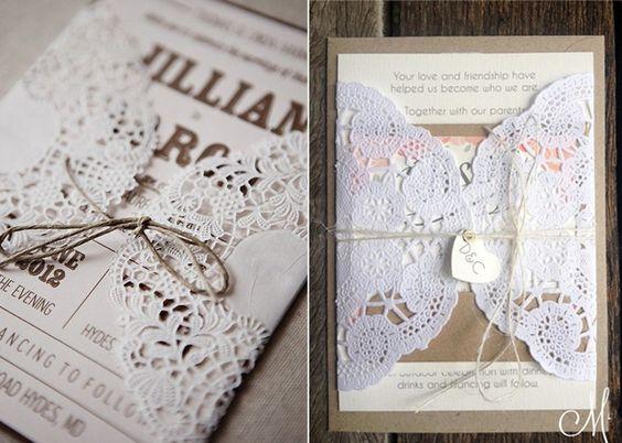 Vintage Spitze Einladung zur Hochzeit/Hochzeitseinladung 2014 mit ...