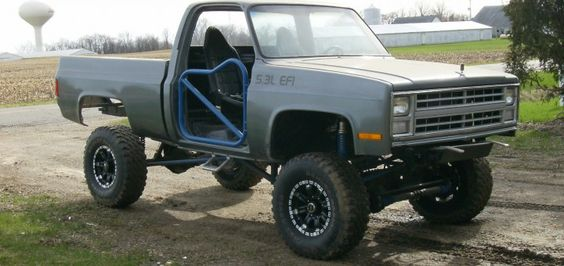 1985 Chevrolet Truck Lifted Swamper Tires | GM Authority