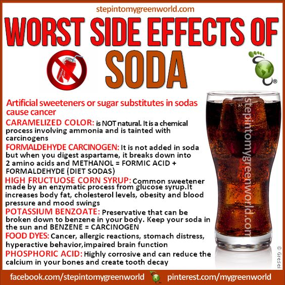 Bad Side Effects of Drinking Diet Coke