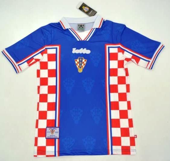 Croatia World cup 1998 retro soccer jersey Football t shirt