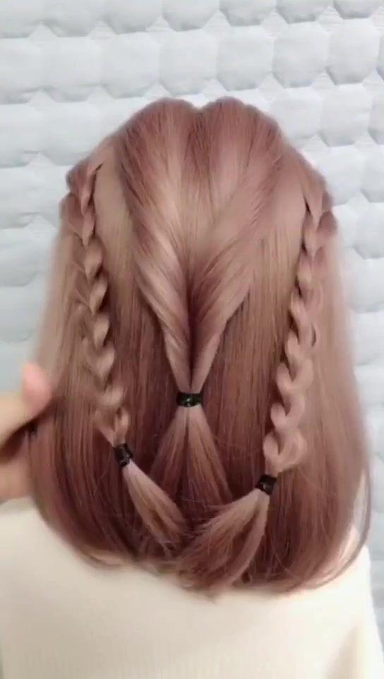 Hair Style Glistenhair Sur Tiktok Hairstyle Tutorial Hair Girls Be Pretty Hair Styles Hair Accessories Hair