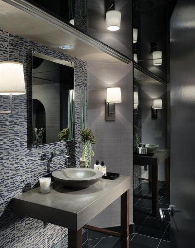 Powder room design bathroom interior design and elle for Insignia interior design decoration